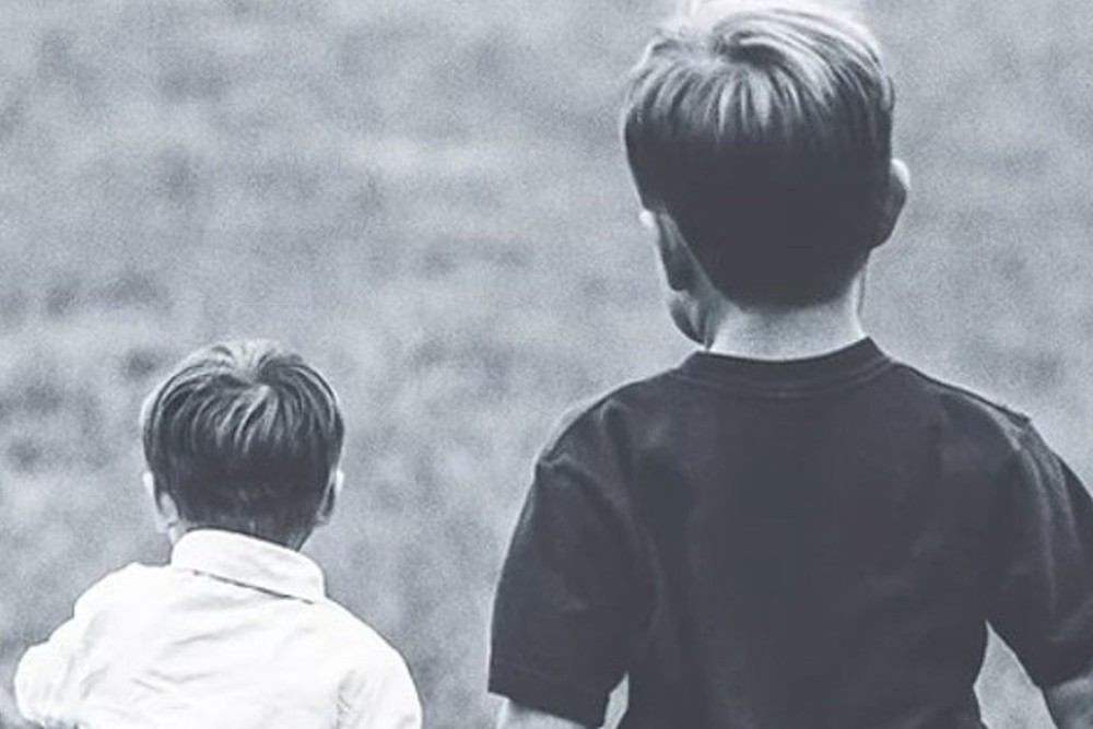 child support page image header - children in a field